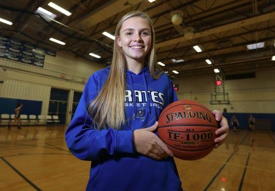 Rockland Scholar-Athlete Corinne Miedreich, Pearl River basketball Jan. 13, 2020.