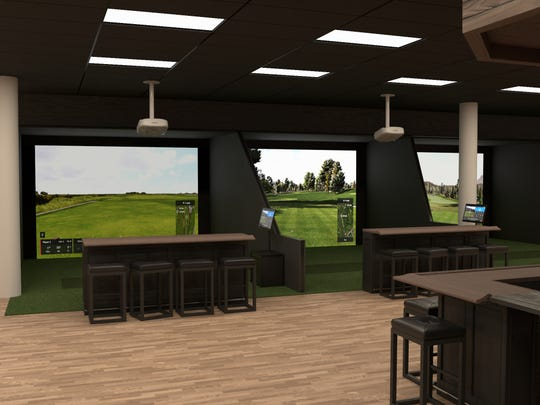 A rendering of what Golf Lounge 18 will look like at The Westchester.