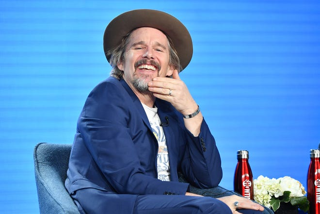 "Ethan Hawke of ""The Good Lord Bird"" speaks during the Showtime segment of the 2020 Winter TCA Press Tour."