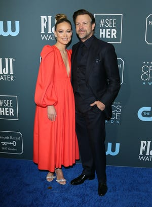 Olivia Wilde and Jason Sudeikis arrive for the Critics' Choice Awards in January 2020.