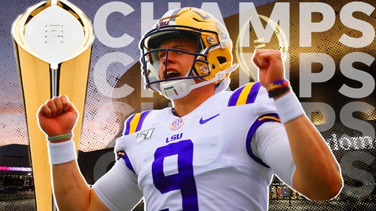 LSU finishes at No. 1 in Amway Coaches Poll followed by Clemson, Ohio State