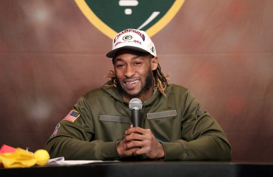 Green Bay Packers running back Aaron Jones co-hosted Monday's Clubhouse Live show in Appleton.