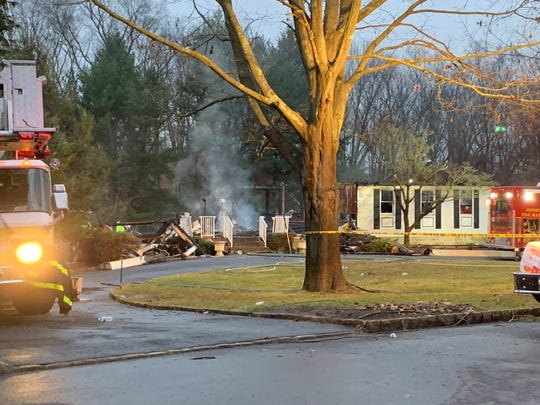 The scene of a second-alarm fire that devastated a two story home on Raven Road in Colts Neck Township on Jan. 14, 2020.