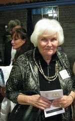 "Carol Serling at WSKG Studios in Vestal in 2009 following the live, televised re-enactment of two ""Twilight Zone"" episodes as part of the 50th anniversary of the television series."