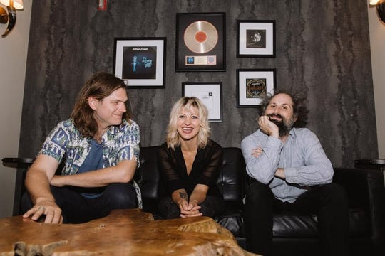 Bonny Light Horseman - from left to right, Eric D. Johnson, Anais Mitchell and Josh Kaufman - performs Feb. 8 at Higher Ground in South Burlington.