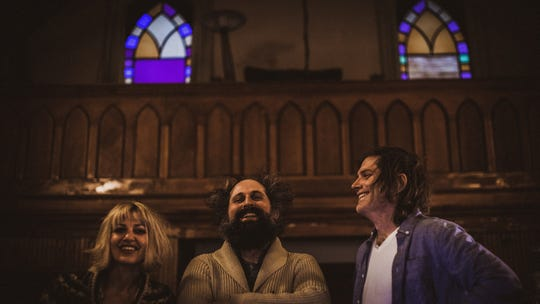 """Eric and I are both singing lead on the record, which is cool,"" Anais Mitchell said of the Bonny Light Horseman album she made with Josh Kaufman (center) and Eric D. Johnson (right). "" Josh is the producer of that record and i think he's got a pretty Jedi way of directing and producing."""