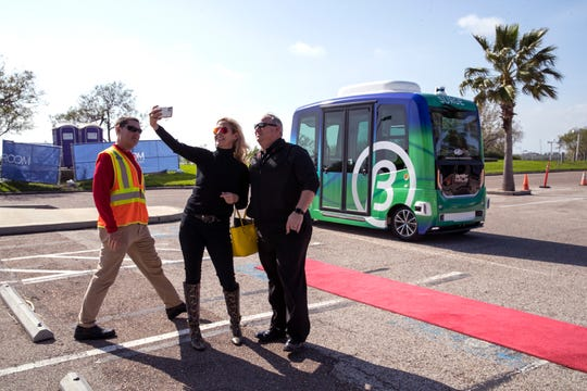 The Corpus Christi Regional Transportation Authority introduced Surge, an autonomous e-shuttle, to Texas A&M University-Corpus Christi on Tuesday, January 14, 2020. The shuttle is driverless, completely electric, transports up to 12 people and operates on an uncontrolled route.