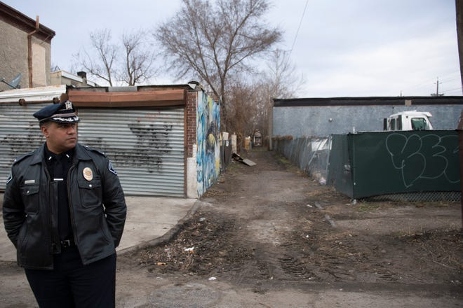 Lt. Gabe Rodriguez stands by a recently cleared alley Friday, Jan. 10, 2020 in Camden, N.J.