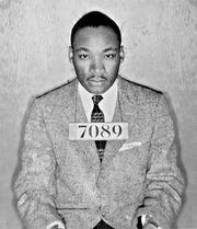 Dr. Martin Luther King Jr.'s mugshot from his arrest during the Montgomery bus boycott became a powerful symbol of the civil-rights movement. King's 'Letter from Birmingham Jail' will be read at Eastern State Penitentiary on Martin Luther King Jr. Day.