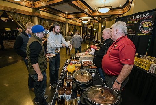 Chili Rocks makes food available at the Annual Aged Barrel Beer Festival at Jungle Jim's International Market.