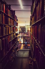 The historic Mercantile Library boasts a large collection of volumes spanning over a wide range of subjects.