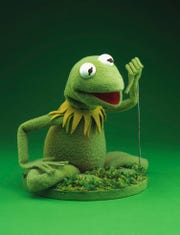 Kermit the Frog, 1969, James Henson, American; cloth, foam, rubber, metal rods and plastic.