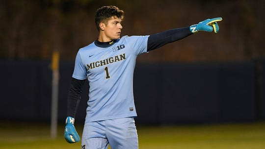 Michigan's Andrew Verdi was second in the third round, No. 65 overall, by DC United in the 2020 MLS SuperDraft.