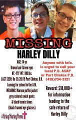 Harley Dilly had been missing from his Port Clinton, Ohio, home since Dec. 20.