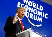 In this Jan. 26, 2018, photo, President Donald Trump speaks at the World Economic Forum in Davos, Switzerland.