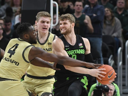 Fifth-year senior forward Kyle Ahrens has a long history of injuries while at Michigan State and even before he arrived on campus.