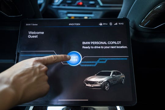 In BMW Group's #NEXTGen Level 4 mobility automation, occupants no longer have to be directly involved in the driving process, the drive is initiated via an ODM tablet.