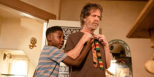 """William H. Macy and Christian Isaiah in """"Shameless."""""""