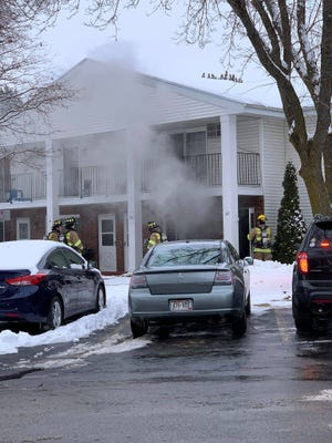 Fond du Lac Fire/Rescue put out a fire started by lint built up in dryer vent Monday, Jan. 13, 2020.