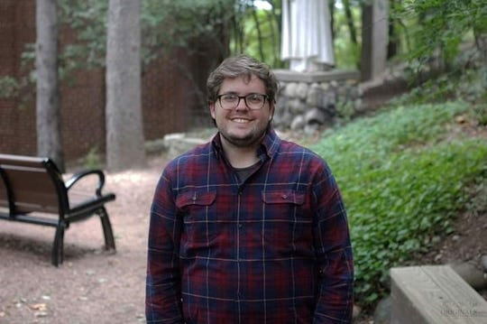 "Peter Laning, a history major at Marian University, created ""Badger State: A Wisconsin History Podcast"" in 2019."