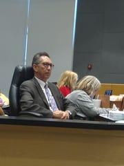Cape Coral City Manager John Szerlag at a recent City Council meeting where Mayor Joe Coviello fell short of the votes needed to fire the manager.