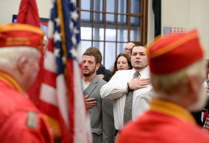 Great Falls Veterans Treatment Court graduation ceremony, Tuesday, in the old federal courthouse above the U.S. Post Office in downtown Great Falls.