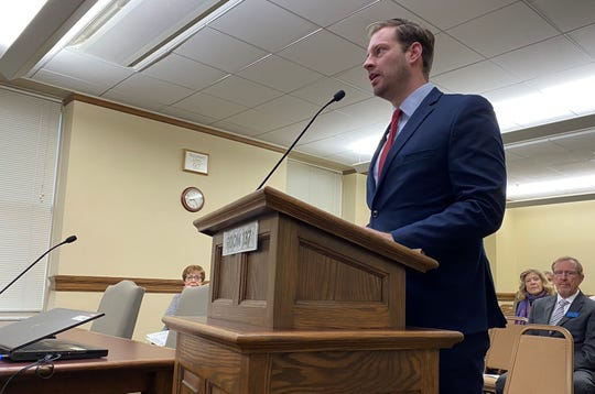 Sen. Kenneth Bogner, R-Miles City, speaks Tuesday about the possibility of annual legislative sessions.