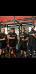 """From Left, Quincy Rapozo, Anthony """"Big Tone"""" Salas, Coach Jesse """"Rick"""" Quinata and Dalton Christy. Anthony J. Salas competed at the 2019 USPA Ala'kai Real Steel Lift off 4, held in Kapolei Hawaii on Dec. 15, 2019. His best lifts were squat: 700 lbs., bench: 490 lbs., deadlift: 677lbs. Competition results/Guam records can be found at the USPA official website."""
