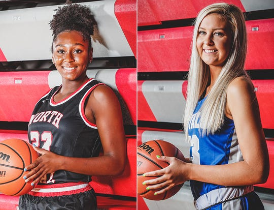 North Central's Jasmine McWilliams (left) and Hamilton Southeastern's Sydney Parrish (right) are among the nine Indiana girls named McDonald's All American game nominees.