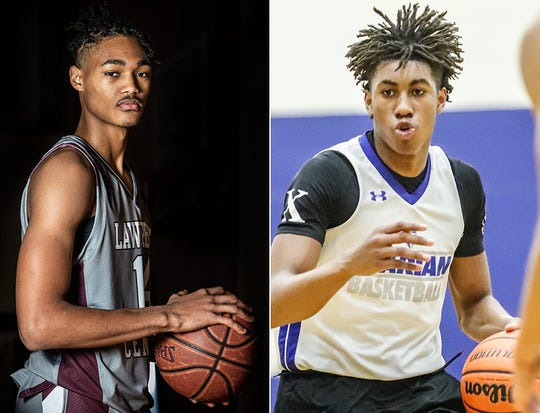 Lawrence Central's D'Andre Davis (left) and La Lumiere's Jaden Ivey are among the Indiana players nominated for the McDonald's All American game.