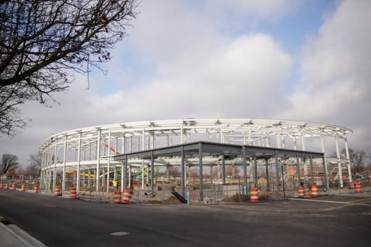 Construction continues on Loeb Stadium, Tuesday, Jan. 14, 2020 in Lafayette.