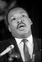 Dr. Martin Luther King spoke during a voter registration rally in Louisville. Aug. 2, 1967