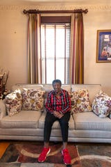 Louisville civil rights leader Mattie Jones at her West Louisville home. Jones is the recipient of the 2020 Martin Luther King Freedom Award.