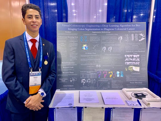 Manual High School student Ramy Khodeir was named a Scholar in the Regeneron Science Talent Search 2020.