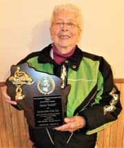 Janice Tetzlaff, of Lakewood, has beennamed Snowmobiler of the Yearby the Association of Wisconsin Snowmobile Clubs.