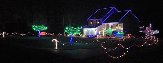 One of the Firelands Electric 2019 Christmas Lighting Contest winners was the home of Mark and Sharon Adams of Plymouth.