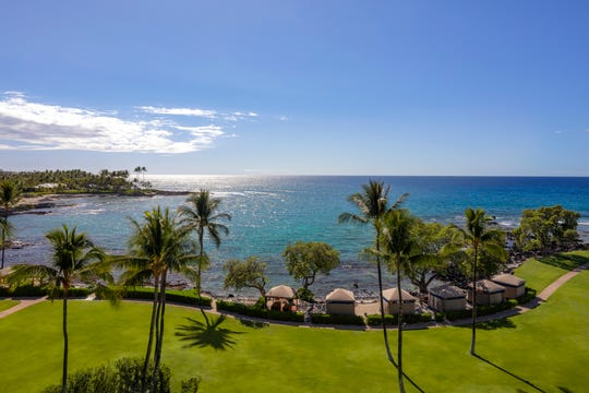 The view of Kohala Coast from Fairmont Orchid in Hawaii.