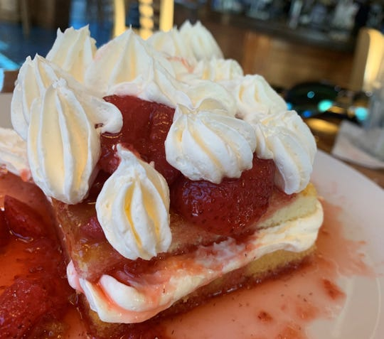 "The strawberry ""not-so-shortcake"" from Mango's Dockside Bistro, Marco Island."