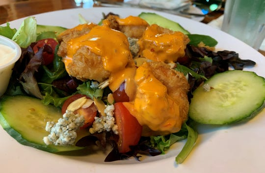 "The ""Boom, Boom"" shrimp salad from Mango's Dockside Bistro, Marco Island."