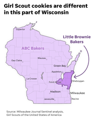 Girl Scout variations in Wisconsin