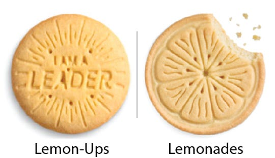 Girl Scout Cookie comparisons: Lemon-Ups vs. Lemonades. Girl Scouts of the USA/Enrique Rodriguez composite