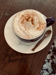 "A little cayenne and cinnamon givethe Mexican hot chocolate atBirch & Banyan Coffeein Hartland a ""slight kick,"" according toownerJessiePuzach."