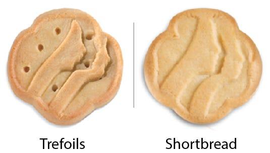Girl Scout Cookie comparisons: Trefoils vs. Shortbread. Girl Scouts of the USA/Enrique Rodriguez composite
