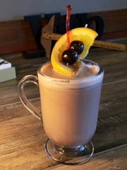 The Wisconsin old fashioned hot chocolate fromVintage Grounds in Muskego featuresGary's Classic Muddled Old Fashioned Mix, andcan be made with brandy, whiskey, or without any alcohol at all.