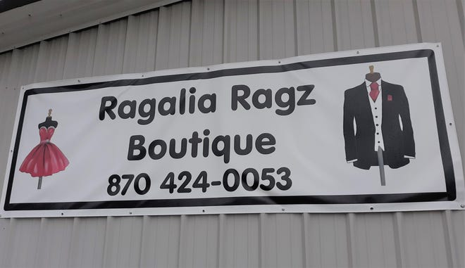 The Mountain Home Area Chamber of Commerce has inducted Ragalia Ragz boutique, at 105 Spring Park Drive in Mountain Home, as a member. Membership inductions occur when a business has been in the area for some time and decides to join the Chamber. Owner Mary Burr describes the boutique as an eclectic collection of clothing, shoes, handbags and accessories.  She says to look for her new sign (pictured) which, along with Chamber recognition, has helped increase traffic to the store which is located just off Highway 201 North and Spring Park Drive. For more information visit their Facebook page or call (870) 424-0053. For all member listings visit enjoymountainhome.com.