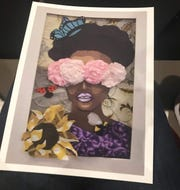 """Artwork by Booker T. Washington Magnet High School 9th-grade Visual Arts student Ariel Steele was featured on the program cover for BTW Showcase 2020: """"All Eyes on Us."""""""