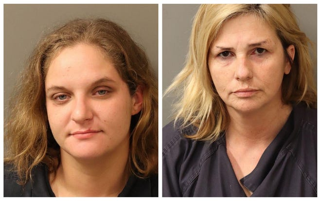 Brandy Arbaugh and Gloria Harrelson were charged with first-degree burglary, second-degree robbery.