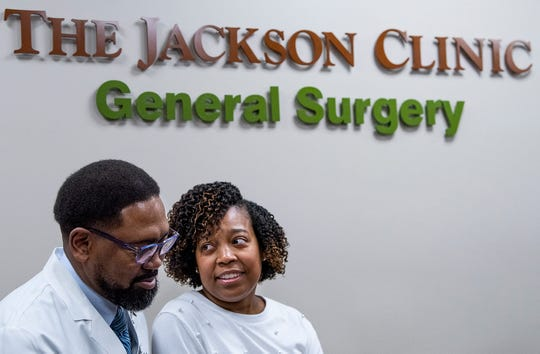 Dr. Brian Gary and his wife Helen Gary at his offices at Jackson Hospital in Montgomery, Ala., on Friday January 10, 2020.