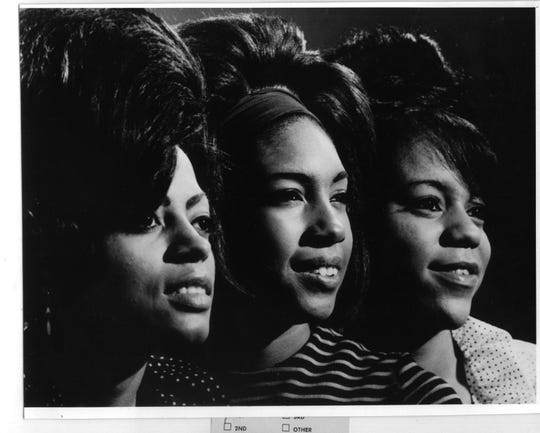 The Supremes' Diana Ross, Mary Wilson and Florence Ballard.