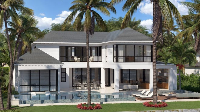 700 Admiralty Parade West estate in Port Royal offers commanding wide water views, capturing the spirit of Naples living.